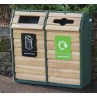 Double Wood Recycling Unit - 196 Litre