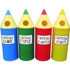 52 Litre Fun Pencil Recycling Bin