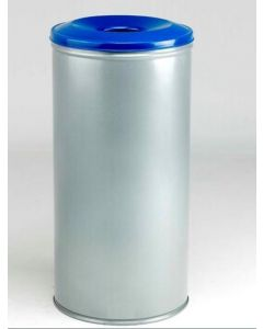 Metal Recycling Bin with Coloured Lids 60 Litres