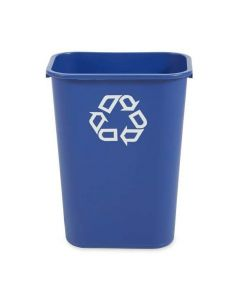Rubbermaid Rectangular Waste Basket with Recycling Loop - 39 Litres