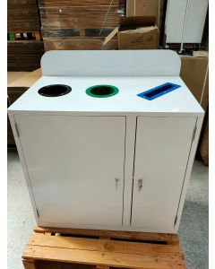 3 Compartment Metal Recycling Bin - Ex Sample Reduced RRP 499.95