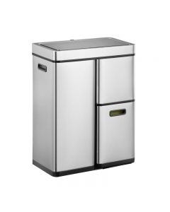 Mirage Stacked Sensor 3 Compartment Recycling Bin - 60 Litre