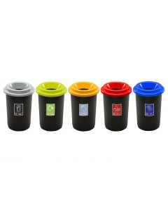Round Open Top Recycling Bin - 50 Litre