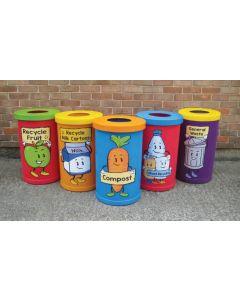 Popular Character Recycling Bins - 42 Litre