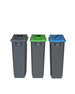 Slim Profile Recycling Bin - 60 & 80 Litre Available
