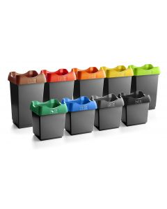 50 Litre Recycling Bin with Colour Coded Lids