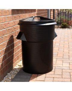 Robust Black Versatile Dustbin - 94 Litre