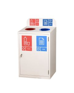 Zeus 2 Bay Recycling Station (80 Litres per Bay)
