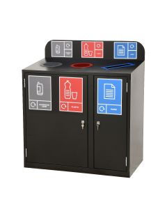 Zeus 3 Bay Recycling Station (80 Litres per Bay)