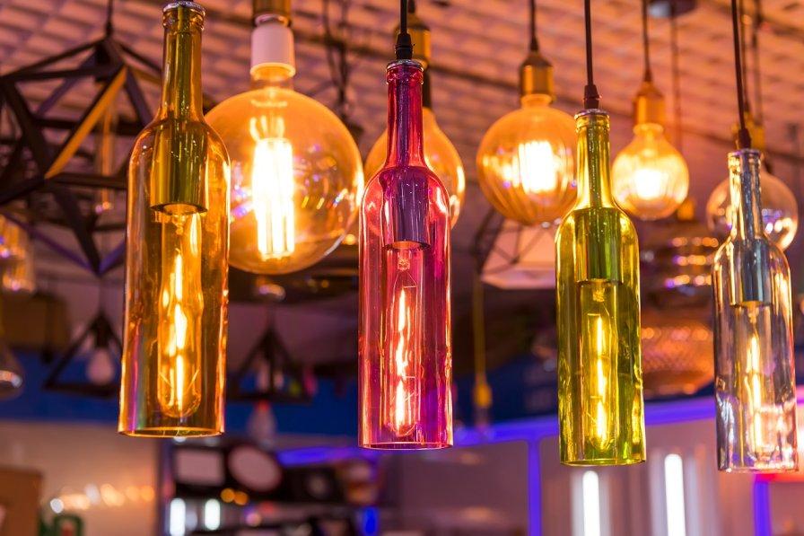 Bottles with LED lighting