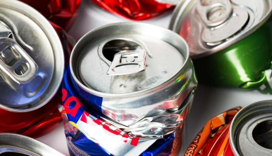 Crushed Drinks Can