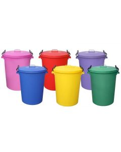 Coloured Outdoor Plastic Dustbin 110 Litres