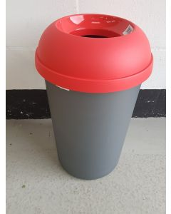 Open Top Litter Bin with Graphic - 50 Litre Cosmetic Damage REDUCED