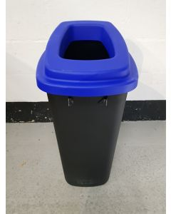 Large Durable Open Top Recycling Bin with Blue Lid - Shop Soiled REDUCED