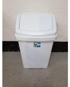 White Flip Top Bin - 50 Litre