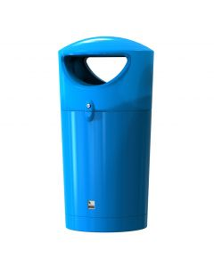Metro Round Hooded Litter Bin - 95 Litre