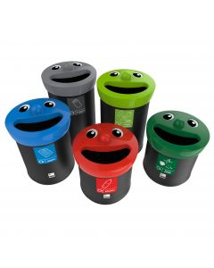 Smiley Face Recycling Bin - 3 Sizes