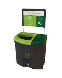 Mini Meridian Duo Recycling Bin - 87 Litre
