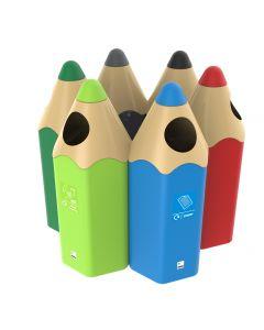 Coloured Pencil Recycling Bin 70 Litres