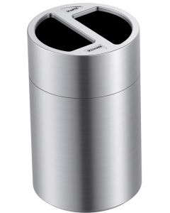 120 Litre 2 Compartment Aluminium Recycling Bin
