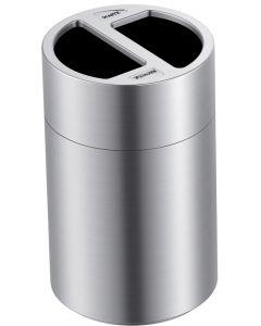 120 Litre 2 Compartment Aluminium Recycling Bin