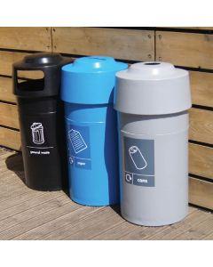 Circular Polyethylene Recycling Bin - 84 Litre
