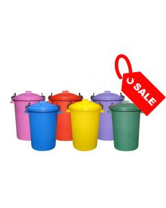 Coloured Outdoor Plastic Dustbin 85 Litres