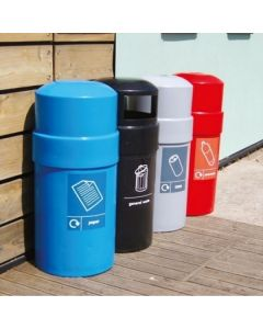 Domed Top Recycling Bin - 84 Litres