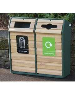 Double Wood Recycling Unit - 196 Litre