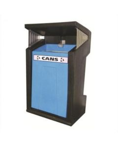 Easy Emptying Hooded Outdoor Recycling Bin 39 Litres