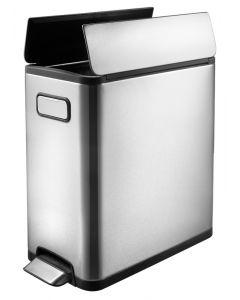 EKO Ecofly Slim Dual Compartment Recycling Bin - 40 Litre