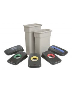 Slim Look Plastic Recycling Bin with Coloured Lids