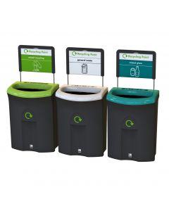 Meridian Open Aperature Recycling Bin - 110 Litre