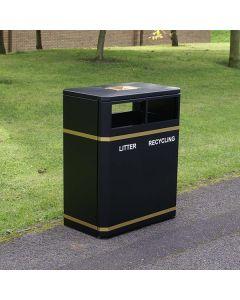 Outdoor Dual Recycling Bin - 160 Litre