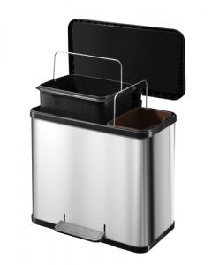 Hailo 2 Compartment 26 Litre Pedal Bin