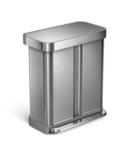 Simplehuman Dual Compartment Recycling Bin Available in 2 Finishes - 58 Litre