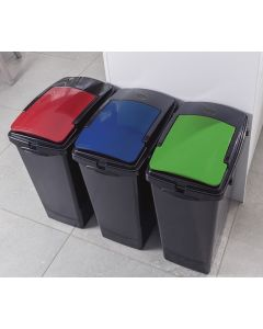 40 Litre Slimline Recycling Bin with Sticker