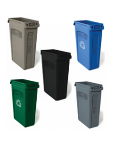 Slim Jim Waste Container with Venting Channels - 87 Litres