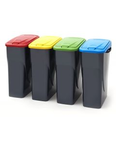 Smart 25 Litre Slim Recycling Bin with Push Lid