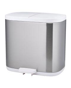 Joseph Joseph Stainless Steel Split Compartment Bathroom Recycling Bin