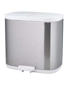 Joseph Joseph Stainless Steel Split Compartment Bathroom Recycling Bin