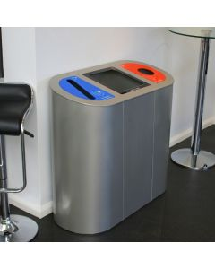 Torpedo Triple Lift Lid Recycling Station - 162 Litre