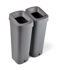 Mini Recycling Bin with Sticker Sheet and Optional Handled Lid - 50 Litre
