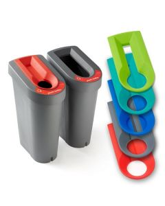 Recycling Bin with Sticker Sheet and Optional Coloured Lid Insert (70 Litres)