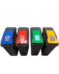 25 Litre Recycling Bin and Lid with Recycling Sticker