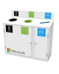 Zeus 3 Bay Recycling Station (87 Litres per Bay)
