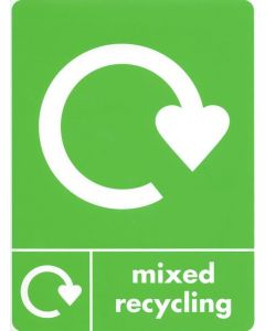 A5 quality recycling stickers