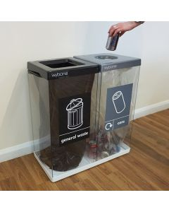 Double Box Cycle Indoor Recycling Bins - 120 and 160 Litre Available