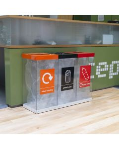 Triple Box Cycle Indoor Recycling Bin - 180 and 240 Litre Available