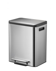 EcoCasa Dual Compartment Recycling Bin - 2 x 15 Litre